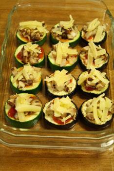 茄子とズッキーニのきのこチーズ焼き