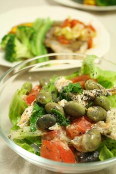 黒枝豆のサラダ