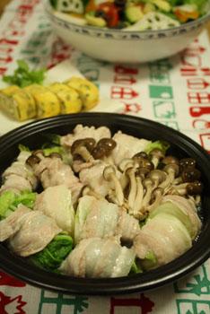 豚バラ白菜ロール