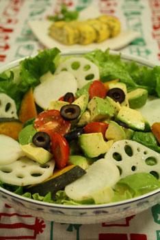 温野菜マリネのサラダ