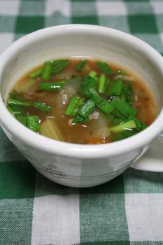 ニラのスタミナスープ