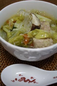 春キャベツの中華スープ