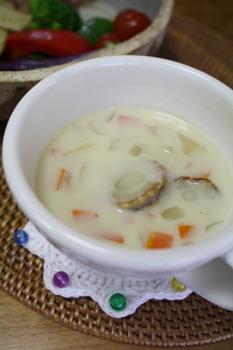ベビーホタテのクリームスープ