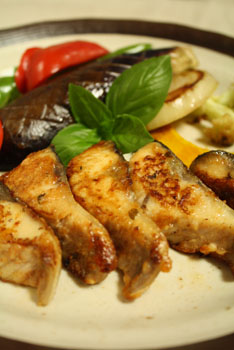 鯖のスパイスマリネ焼き