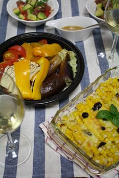 タジン鍋で蒸し野菜