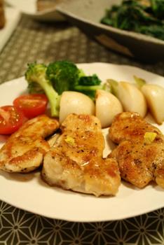 ゆず風味鶏胸肉のソテー