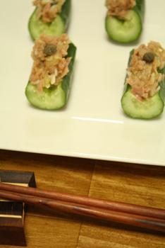 きゅうりとツナの一口サラダ