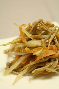 根菜ときのこの味噌きんぴら