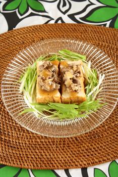 絹揚げとセロリビーフのサラダ