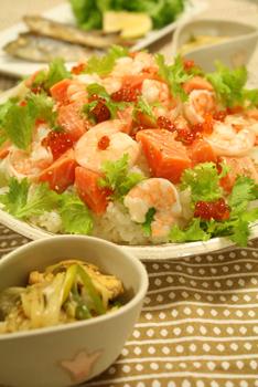 サーモンのちらし寿司