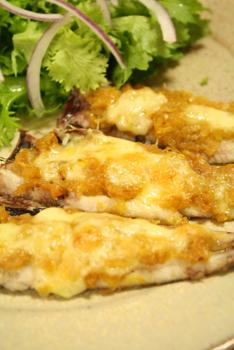 いわしのカレー味噌香ばしチーズ