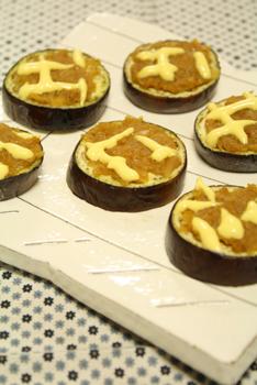茄子のカレー味噌マヨ焼き