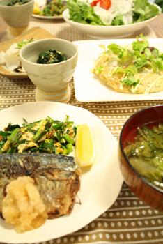 鯖のソテー定食