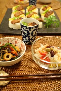うなぎのお寿司とおつまみ