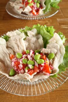 豚しゃぶ野菜ソース