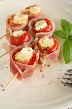 クリームチーズとろけるトマトベーコン