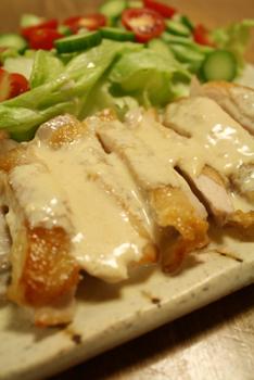 鶏もも肉味噌マヨソース