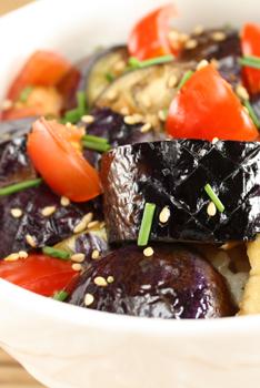 茄子の生姜焼き丼