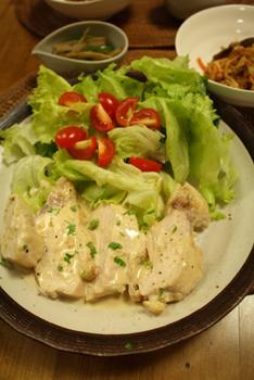 鶏胸肉味噌マヨソース