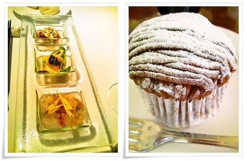 本日の前菜&アンジェリーナのモンブラン