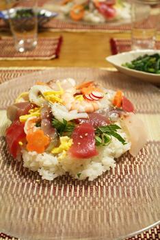 お刺身パックで簡単ちらし寿司