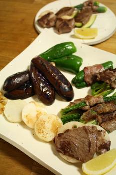 野菜の牛肉巻き