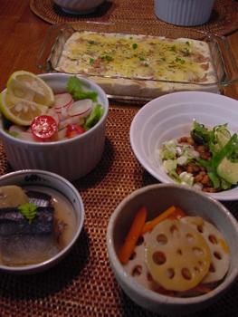 豆腐とツナのグラタン,料理