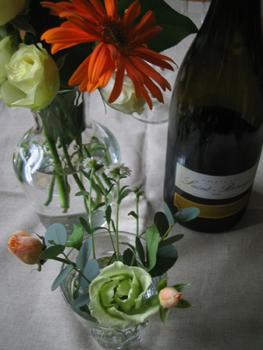 お花とワイン
