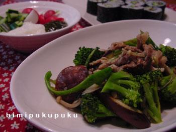 ブロッコリーと豚肉炒め