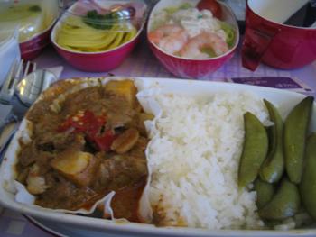 プーケット,タイ航空機内食