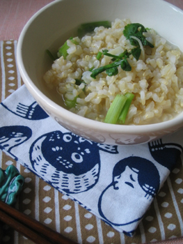 ホタテ貝柱の玄米粥