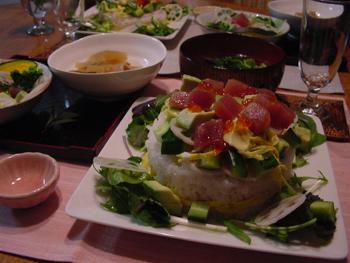 アボカドマグロのちらし寿司