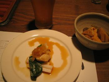 ホタテと長芋。煮物。