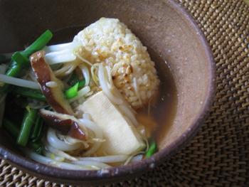 あんかけ玄米焼きおむすび