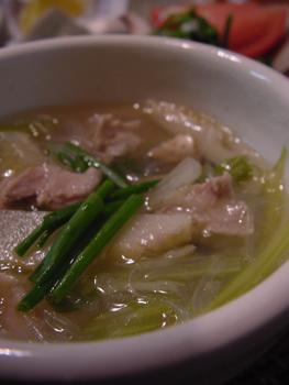 たけのこと豚肉の中華スープ