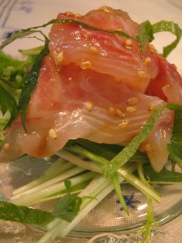 真鯛の刺身サラダ