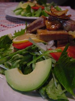 マグロのスタミナサラダ