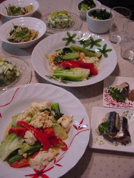 チンゲン菜と豆腐の中華炒め