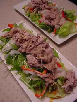 鹿児島XX豚シャブサラダ