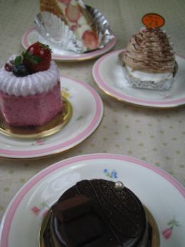 別の日のケーキ