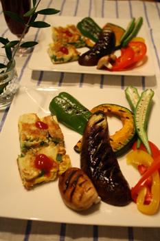 グリル野菜の彩りプレート