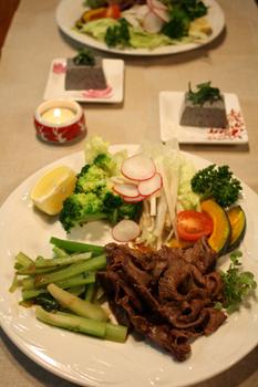 牛焼き肉といろいろ野菜