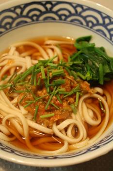 肉味噌、麺のせバージョン