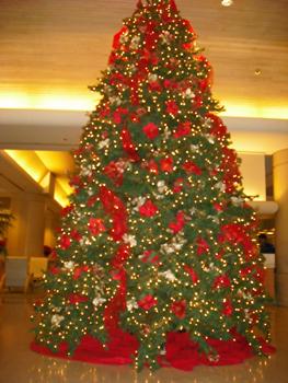 ホテルクリスマスツリー