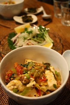 アジアンピリ辛豆腐
