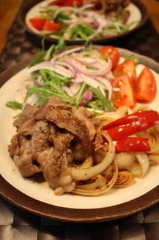 野菜と焼き肉プレート