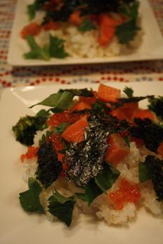 サーモンポキのちらし寿司