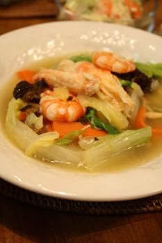 白菜と海鮮の中華あん