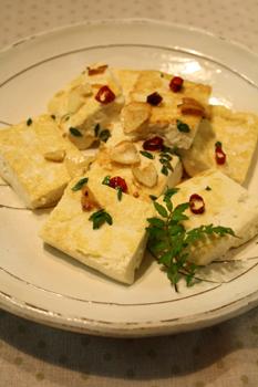 豆腐のペペロンチーノ