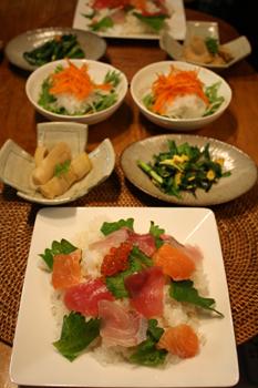 簡単お刺身のっけ寿司
